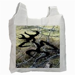 Black Love Browning Deer Camo Recycle Bag (one Side)