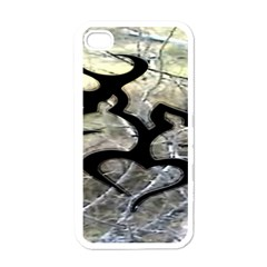Black Love Browning Deer Camo Apple Iphone 4 Case (white)