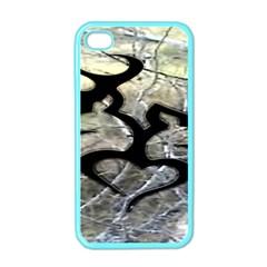 Black Love Browning Deer Camo Apple Iphone 4 Case (color)
