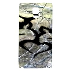 Black Love Browning Deer Camo Galaxy Note 4 Back Case