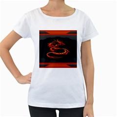 Dragon Women s Loose Fit T Shirt (white)