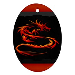 Dragon Oval Ornament (two Sides)