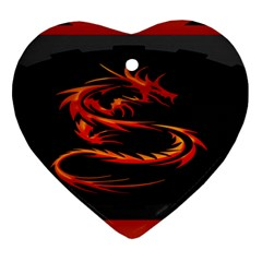 Dragon Heart Ornament (two Sides)