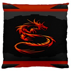Dragon Large Flano Cushion Case (two Sides)