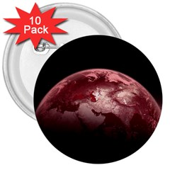Planet Fantasy Art 3  Buttons (10 Pack)