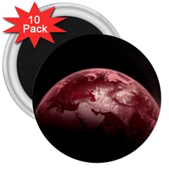 Planet Fantasy Art 3  Magnets (10 Pack)