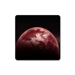Planet Fantasy Art Square Magnet