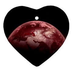 Planet Fantasy Art Heart Ornament (two Sides)