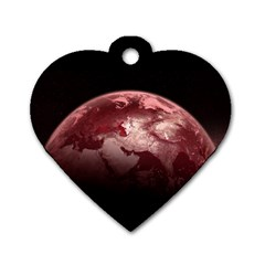 Planet Fantasy Art Dog Tag Heart (two Sides)