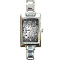 Science Formulas Rectangle Italian Charm Watch
