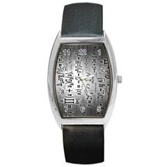 Science Formulas Barrel Style Metal Watch