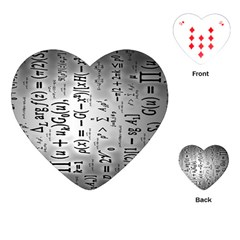 Science Formulas Playing Cards (heart)