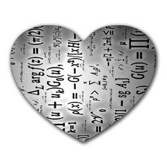 Science Formulas Heart Mousepads