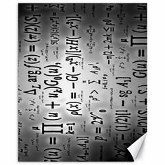 Science Formulas Canvas 11  X 14