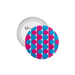 Pink And Bluedots Pattern 1 75  Buttons