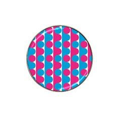 Pink And Bluedots Pattern Hat Clip Ball Marker (10 Pack)
