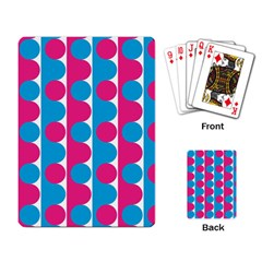 Pink And Bluedots Pattern Playing Card
