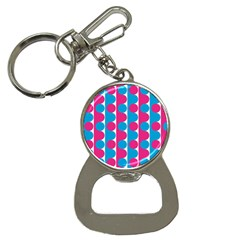 Pink And Bluedots Pattern Button Necklaces
