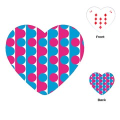 Pink And Bluedots Pattern Playing Cards (heart)