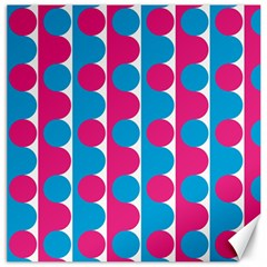 Pink And Bluedots Pattern Canvas 16  X 16