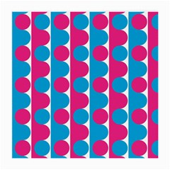 Pink And Bluedots Pattern Medium Glasses Cloth (2 Side)