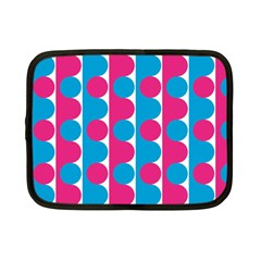 Pink And Bluedots Pattern Netbook Case (small)