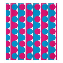 Pink And Bluedots Pattern Shower Curtain 66  X 72  (large)