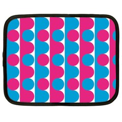Pink And Bluedots Pattern Netbook Case (xxl)