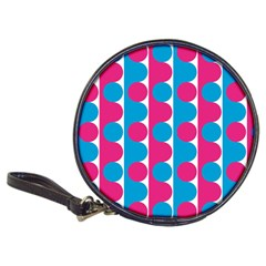 Pink And Bluedots Pattern Classic 20 Cd Wallets