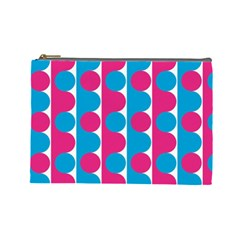 Pink And Bluedots Pattern Cosmetic Bag (large)