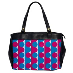 Pink And Bluedots Pattern Office Handbags