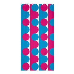 Pink And Bluedots Pattern Shower Curtain 36  X 72  (stall)