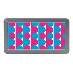 Pink And Bluedots Pattern Memory Card Reader (mini)