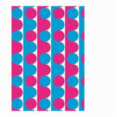 Pink And Bluedots Pattern Small Garden Flag (two Sides)