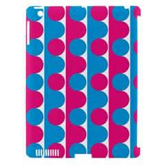 Pink And Bluedots Pattern Apple Ipad 3/4 Hardshell Case (compatible With Smart Cover)