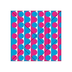 Pink And Bluedots Pattern Acrylic Tangram Puzzle (4  X 4 )