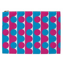 Pink And Bluedots Pattern Cosmetic Bag (xxl)