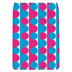 Pink And Bluedots Pattern Flap Covers (l)