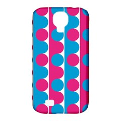 Pink And Bluedots Pattern Samsung Galaxy S4 Classic Hardshell Case (pc+silicone)
