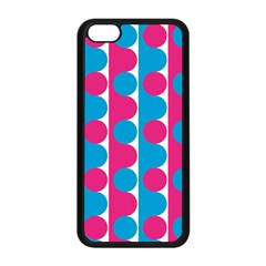 Pink And Bluedots Pattern Apple Iphone 5c Seamless Case (black)
