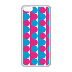 Pink And Bluedots Pattern Apple Iphone 5c Seamless Case (white)