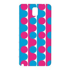Pink And Bluedots Pattern Samsung Galaxy Note 3 N9005 Hardshell Back Case