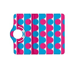 Pink And Bluedots Pattern Kindle Fire Hd (2013) Flip 360 Case