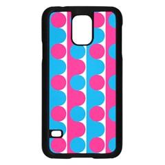 Pink And Bluedots Pattern Samsung Galaxy S5 Case (black)