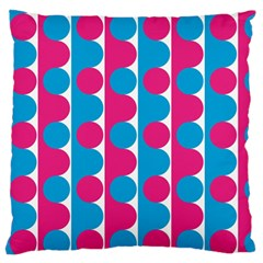 Pink And Bluedots Pattern Standard Flano Cushion Case (two Sides)