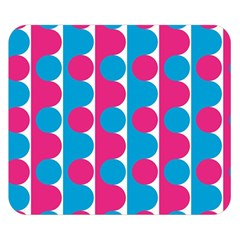 Pink And Bluedots Pattern Double Sided Flano Blanket (small)