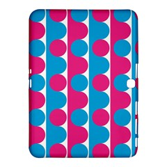 Pink And Bluedots Pattern Samsung Galaxy Tab 4 (10 1 ) Hardshell Case