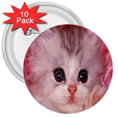 Cat  Animal  Kitten  Pet 3  Buttons (10 Pack)