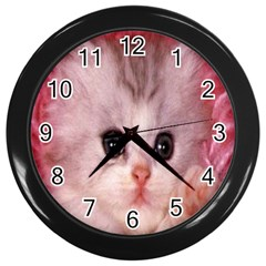 Cat  Animal  Kitten  Pet Wall Clocks (black)