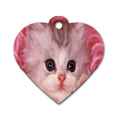 Cat  Animal  Kitten  Pet Dog Tag Heart (one Side)